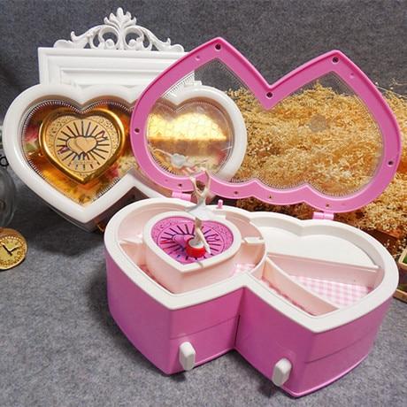 Permalink to Music Box Alice Double Heart Music Box Classical Hand Opera Love Dancing Ballerina Girl Jewelry Box Wedding Gift