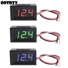 Mini Voltmeter Tester Digital Voltage Test Battery DC 0-40V Red/Blue/Green Auto Car