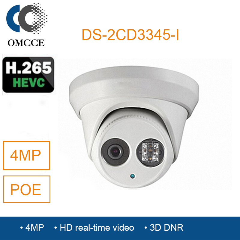 ФОТО OMCCE POE HIK IP Camera  DS-2CD3345-I POE IPC ONVIF Infrared  video surveillance equipment cctv cameras