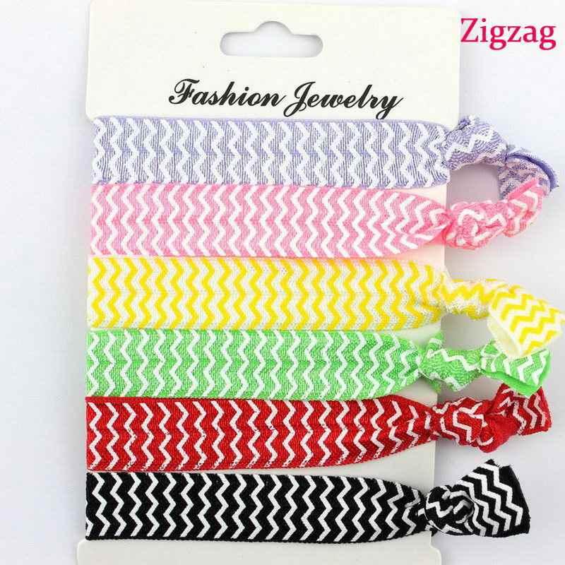 Women Colorful No Crease Hair Ties Ponytail Bracelet Hairband Rope Hair Band