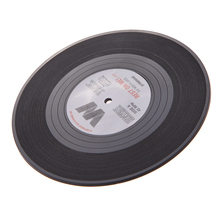 Retro vinyl record drink coasters set (6 pcs)