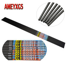 9/12pcs Archery Spine 450 Pure Carbon Arrow Shaft Shooting DIY OD5.7mm For Compound/Recurve Bow Hunting Accessories