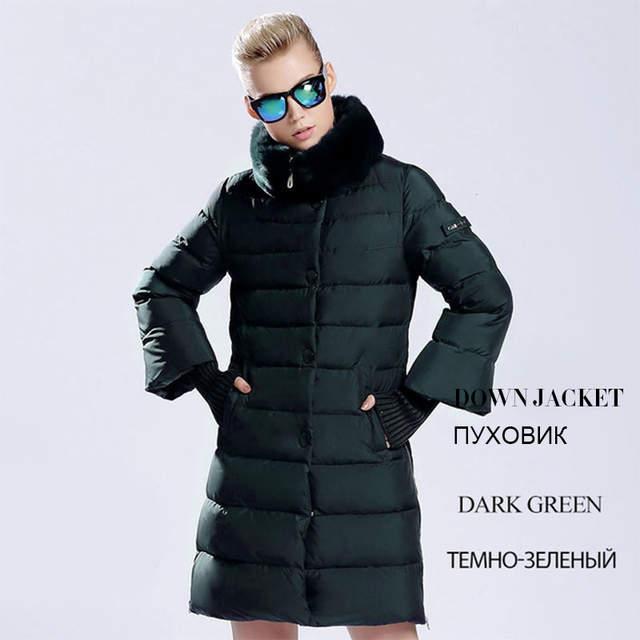 Women Winter Jacket Ladies Real Raccoon Fur Collar Duck Down