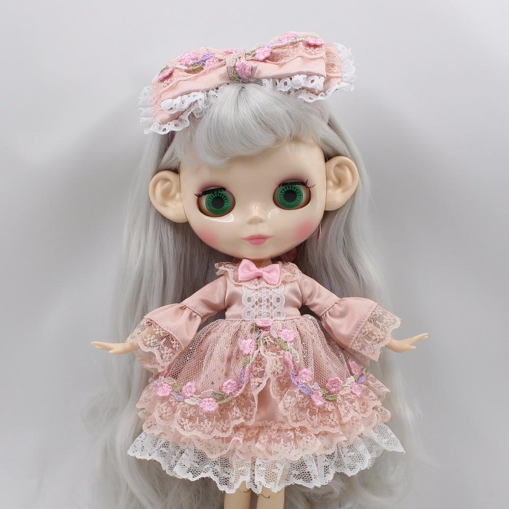 Neo Blythe Doll Princess Pink Flower Dress 3
