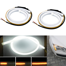 Здесь можно купить   Universal Car-styling 45cm 60cm DRL Lights Lamps Daytime LED Flexible Strip DRL LED Daytime Running Light Car LED Parking Light Car Lights