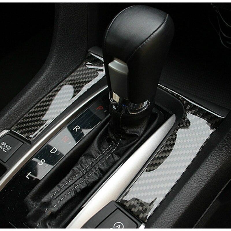 Civic Sedan Interior: Real Carbon Fiber Gear Shift Cover For Honda Civic 10th