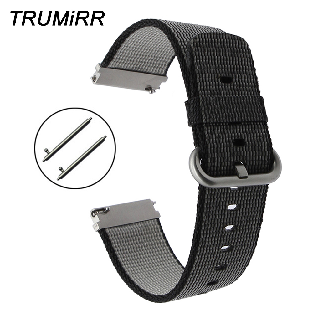 Quick Release Nylon Watchband 22mm Replacement Watch Band Men Women Universal Strap Fabric Wrist Bracelet Black Brown Blue White