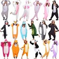 Unicorn Stitch Panda Unisex Flannel Pajamas Kids Anime Cosplay Animal Jumpsuit Sleepwear Hoodie For Boys Girls