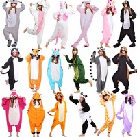 Unicorn Stitch Panda Unisex Flannel Pajamas Kids Anime Cosplay Animal Jumpsuit Sleepwear Hoodie For Boys Girls