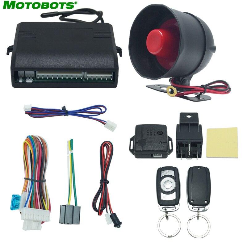 MOTOBOTS alarme de voiture système de sécurité bouton de réinitialisation manuelle fonction antivol alarme Protection avec 2 télécommande # CA2224