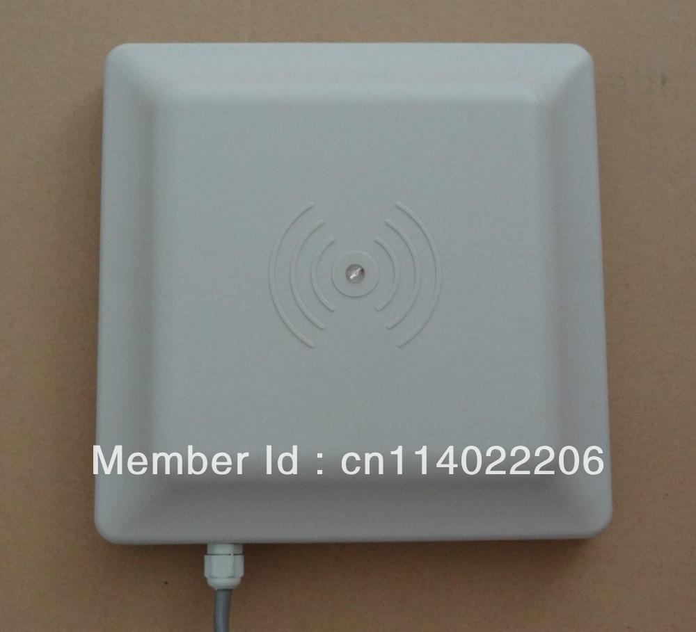Lecteur UHF RFID lecteur longue portée 6 m, RS232/485 avec SDK Wiegand + gratuit (approuvé FCC)