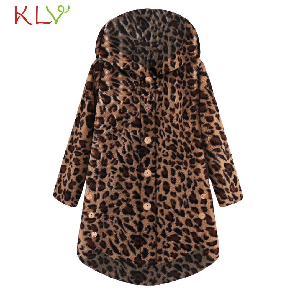 Women's Clothing Straightforward Women Jacket Leopard Hooded Button Winter Loose Coat Long 2018 Plus Size Ladies Chamarra Cazadora Mujer Coat For Girls 18nov22 Volume Large Jackets & Coats