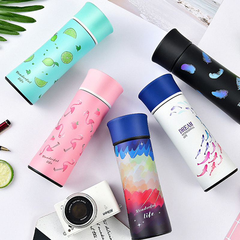 2018 New Flamingo Magic Vacuum Flasks Thermos Coffee Mug Mirror Stainless Steel Water Bottle Insulation Cup