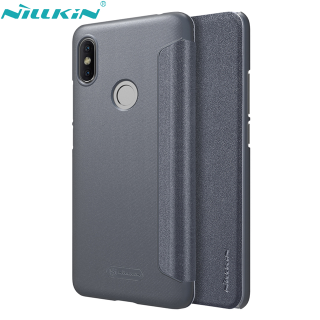 meet 9d6d4 480af US $8.99 20% OFF|NILLKIN Phone Cover for Xiaomi Redmi S2 Case Redmi Y2  (India) PU Leather Case Hard PC Frosted Back Cover Flip Mobile Phone  Cases-in ...