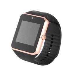 Bluetooth smart watch GT08 inteligentny zegarek wsparcie TF karty SIM ekran dotykowy GT 08 zegarek Monitor zdrowia dla IOS dla telefonu z systemem Android w Inteligentne zegarki od Elektronika użytkowa na