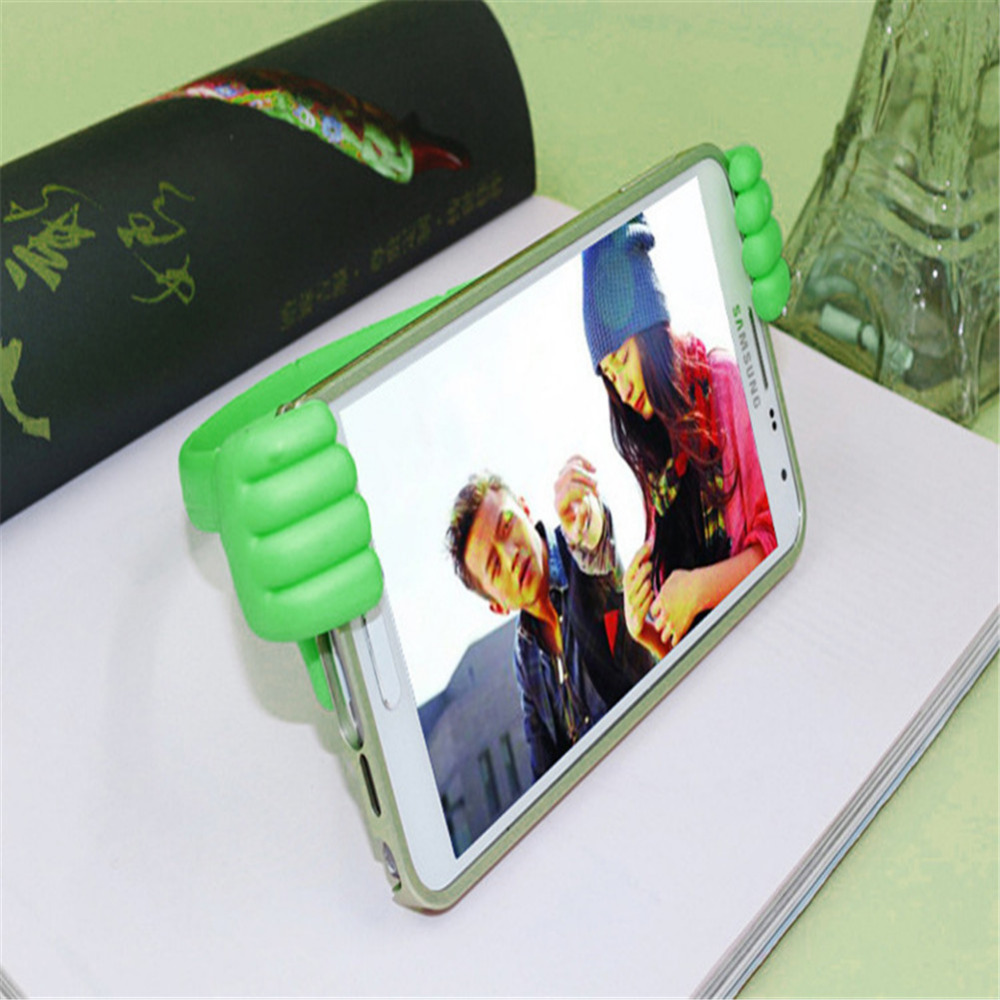 US $1 55 35% OFF|Mobile Phone Holder TPU + Spring Steel Thumb Lazy Stents  For All Phone And Tablet For iPhone for Sansung for Huawei J35-in Mobile