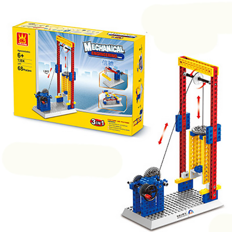 4 Kinds Option Teaching Machinery Group Building Blocks Toys for Children Kids Educational Blocks Toys Christmas Gift for Boys