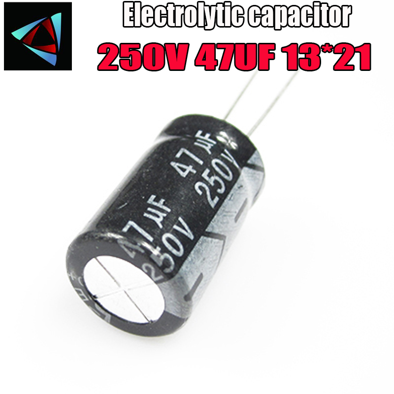 3PCS Higt Quality 250V 47UF 13*21mm 47UF 250V 13*21 Electrolytic Capacitor