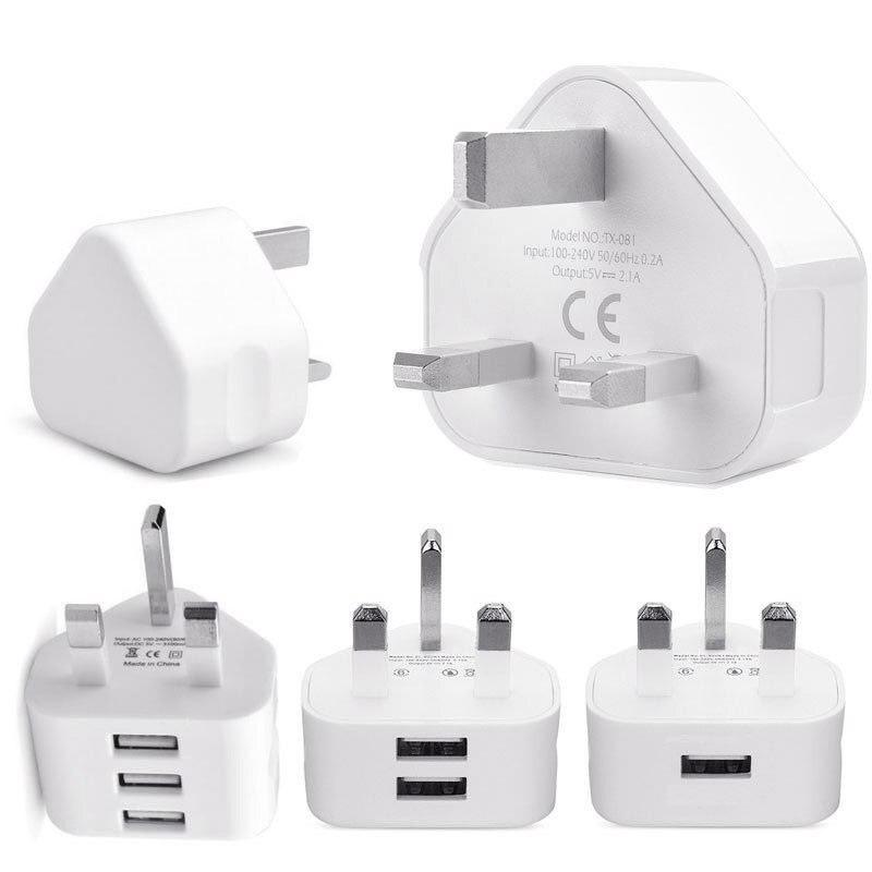Универсальное 1/2/3-порт USB вилка стандарта Великобритании 3 Pin настенное зарядное устройство адаптер с 1/2/3 USB портами зарядное устройство для ...