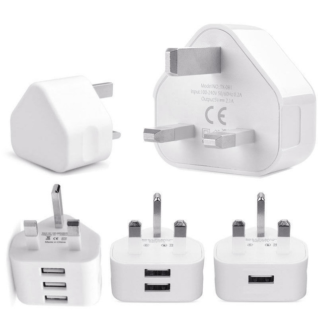056eccc7d38 Universal 1/2/3 Puerto USB Reino Unido enchufe de 3 pines del ...
