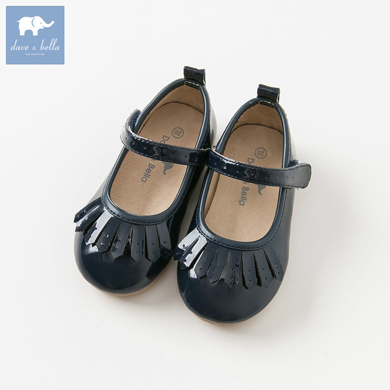 DB8791 Dave Bella Autumn Baby Girl Leather Shoes Children Casual Shoes