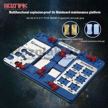 Механик Многофункциональный материнской приспособление для iphone 8 P/8 г/7 P/7 г/6SP/6 s/6 P/6 г A8 A9 A10 A11 PCIE NAND резиновая удаление таблицы