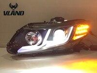 VLAND завод для автомобиля фара ciсветодиодный VIC светодиодные фары 2011 2012 2013 головного света с ксеноновые HID объектив проектора и DRL