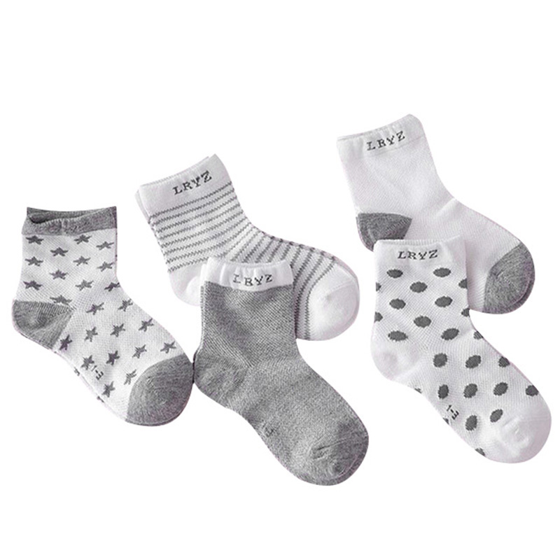 5Pairs/lot Infant Baby Socks Summer Mesh Thin Baby Socks for Girls Cotton Newborn Boy Toddler Socks Baby Clothes Accessories 1