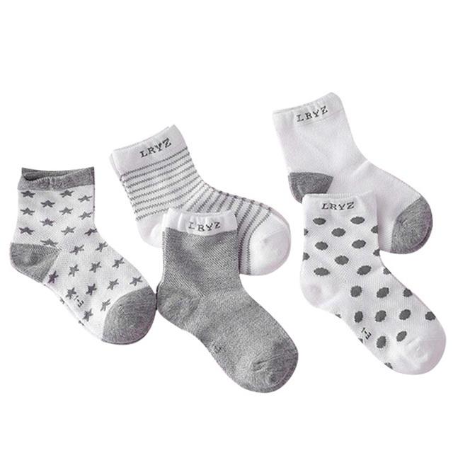 5-Pair Set of Soft Winter Socks for Girls