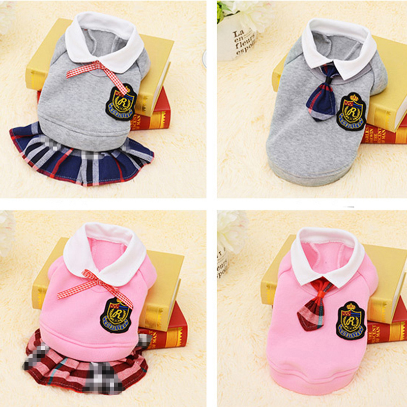Home & Garden School Style Pet Dog Clothes Cat Chihuahua Clothing Dress Pugs Puppy Coat Outfit For Small Dog Clothes Roupa Para Cachorro