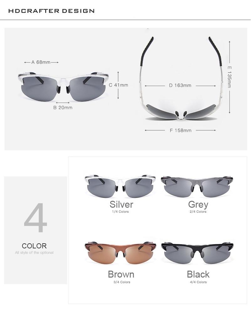 Aluminium magnesium märkesdesign polariserade herr solglasögon - Kläder tillbehör - Foto 3