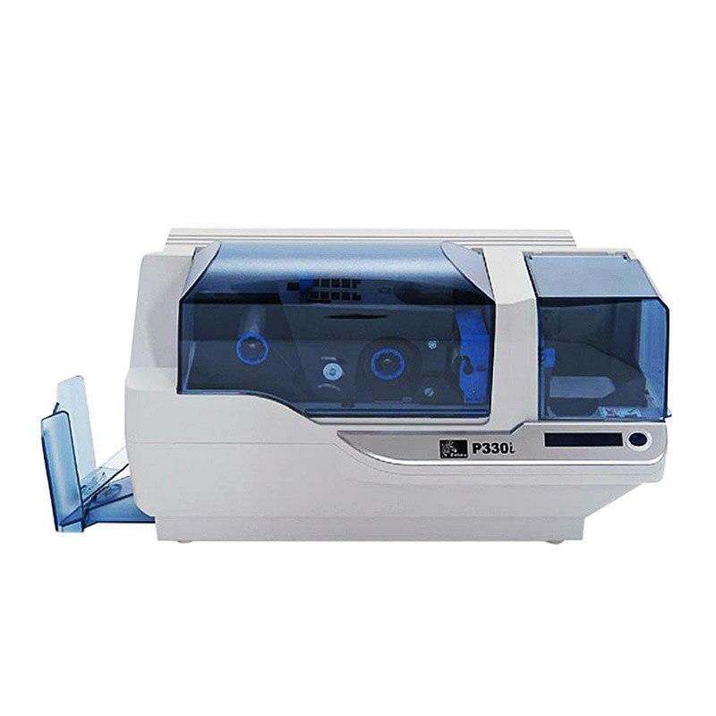 Zebra P330i ID Card Printer Single-Sided PVC card printer used 8000150440cn YMCKO ribbon стоимость