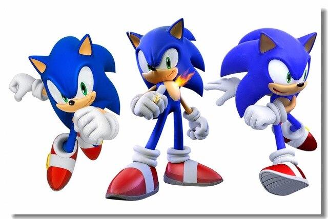 Custom Canvas Wall Murals Sonic The Hedgehog Poster Super Smash Bros
