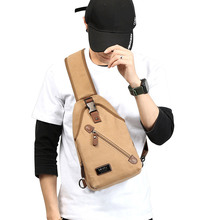 лучшая цена Male Canvas Shoulder Bags Crossbody Bags Men Anti Theft Chest Bag School Summer Short Trip Messengers Bag mochila