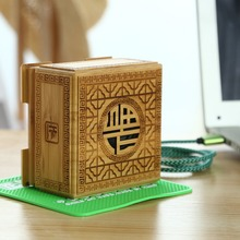 Portable Bluetooth Speakers Bamboo Carving