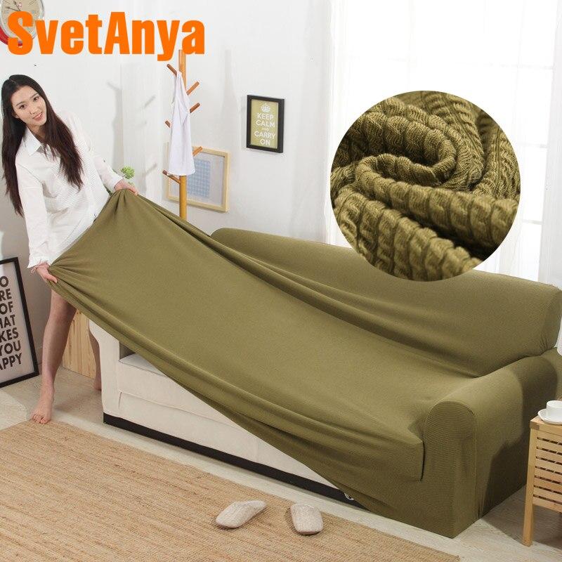 Svetanya Gestrickte Baumwolle Sofa Abdeckung Hussen all-inclusive Couch Fall für verschiedene Form Sofa Hohe Quanlity Einfarbig