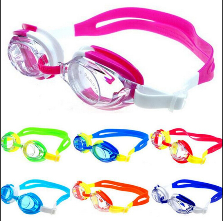 New Summer Colorful Swimming Goggles Junior Swim Kids Children Present Boy Girl ...