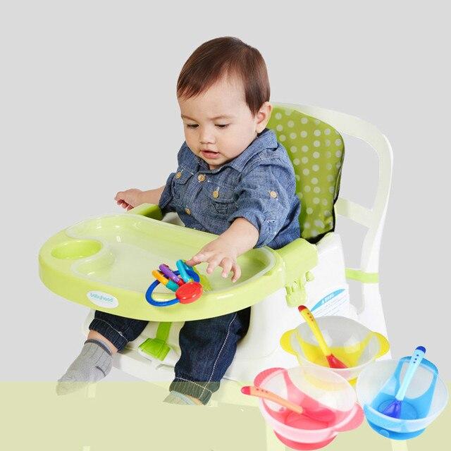 Бесплатная Доставка детское Питание Стул Портативный Многофункциональный Регулируемый Раскладной Обеденный Стул