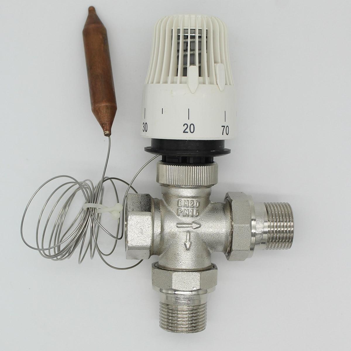 Energy Saving 30-70 Degree Control Floor Heating System Thermostatic Radiator Valve  M30*1.5 Remote Controller Three Way Valve