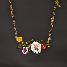 Les Nereides Simple Elegant Flowers Necklace For Women All-match Romantic Lady Party Prom Wedding Jewelry