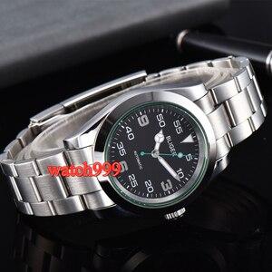 Image 5 - 40mm BLIGER זוהר מכאני גברים שעון ספיר קריסטל שחור חיוג אוטומטי mens שעון