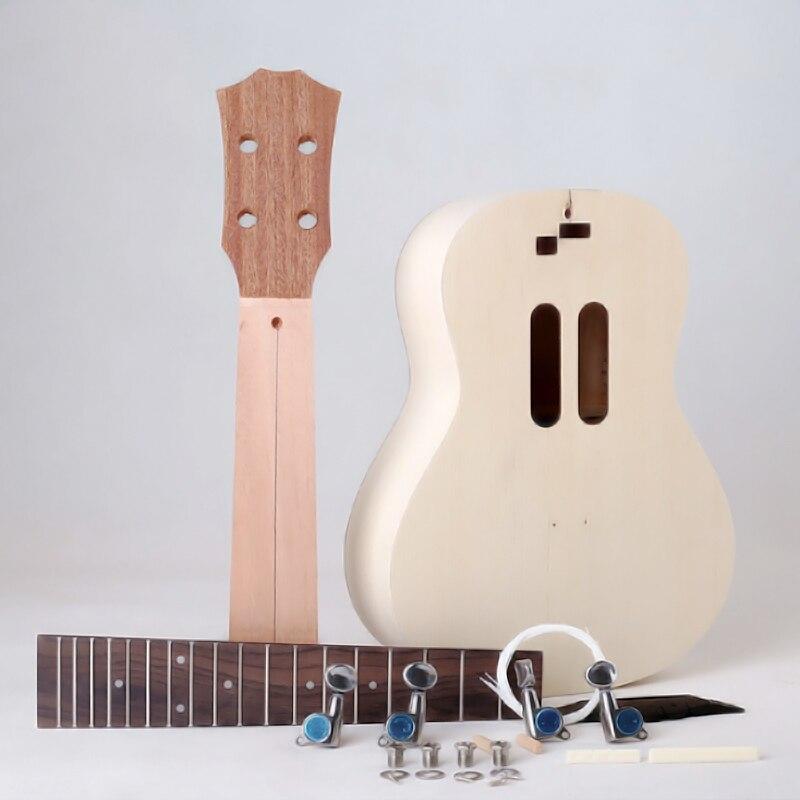 Bricolage ukulélé 23 pouces Hawaii guitare Kit de travail manuel Picea Asperata peinture enfants jouet pour débutant Amateur Ukelele bricolage 03