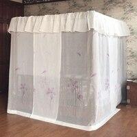 Роскошные Freehand наброски москитная сетка квадратная напольная кровать навес украшение на заказ кружевные занавески постельные принадлежно