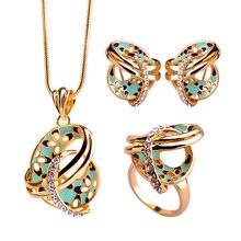 Blucome dubai collar colar max brincos joias anillos de boda chino nudo flor francés ganchos pendientes de esmalte conjuntos joyería de las mujeres