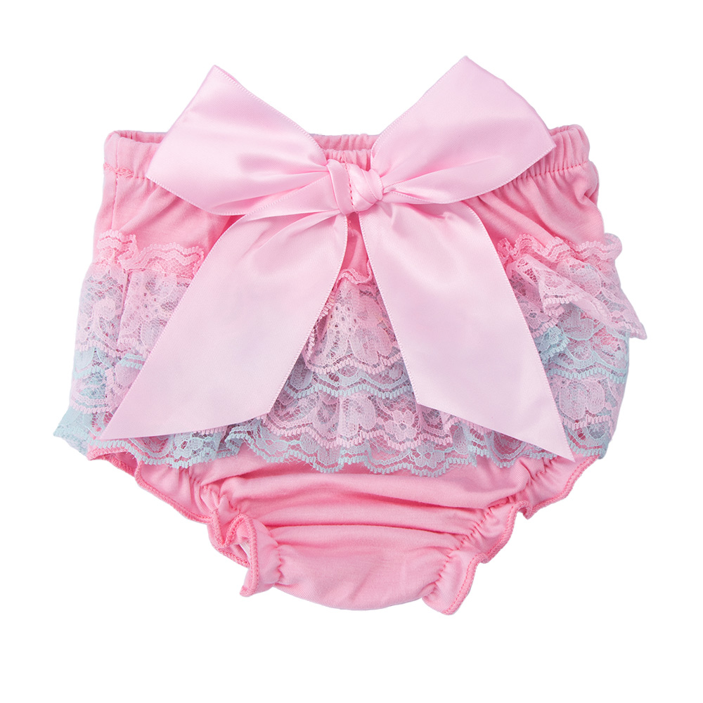 1 Stks Baby Ruffle Bloomers Leuke Baby Kant Luier Cover Bloem Strikje Shorts Peuter Mode Zomer Broek Kleding S /m/l