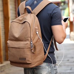 Image 4 - Muzee New Canvas Backpack Anti theft College Students School Backpack USB Charging Design Bags for Teenager Travel Backpack