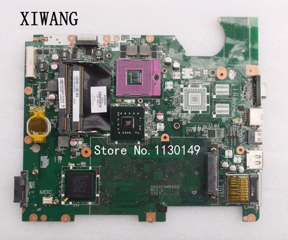 Free Shipping For HP Compaq CQ61 G61 laptop Motherboard DA00P6MB6D0 mainboard 517839-001 tested well купить в Москве 2019