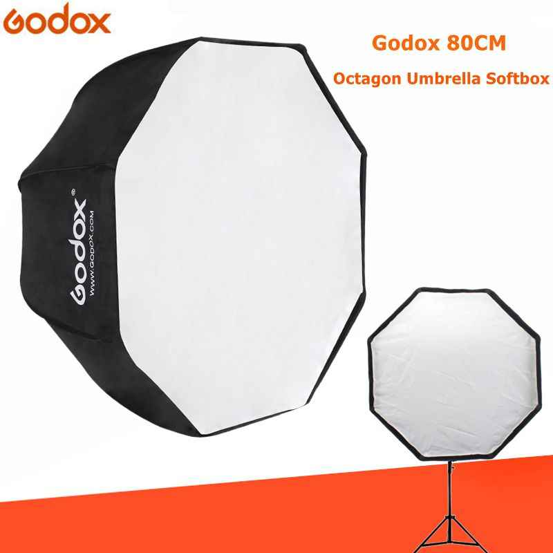 Godox light Softbox 80cm / 31.5in Diameter Octagon Brolly Umbrella Photography accessories soft box Reflector for Video Studio