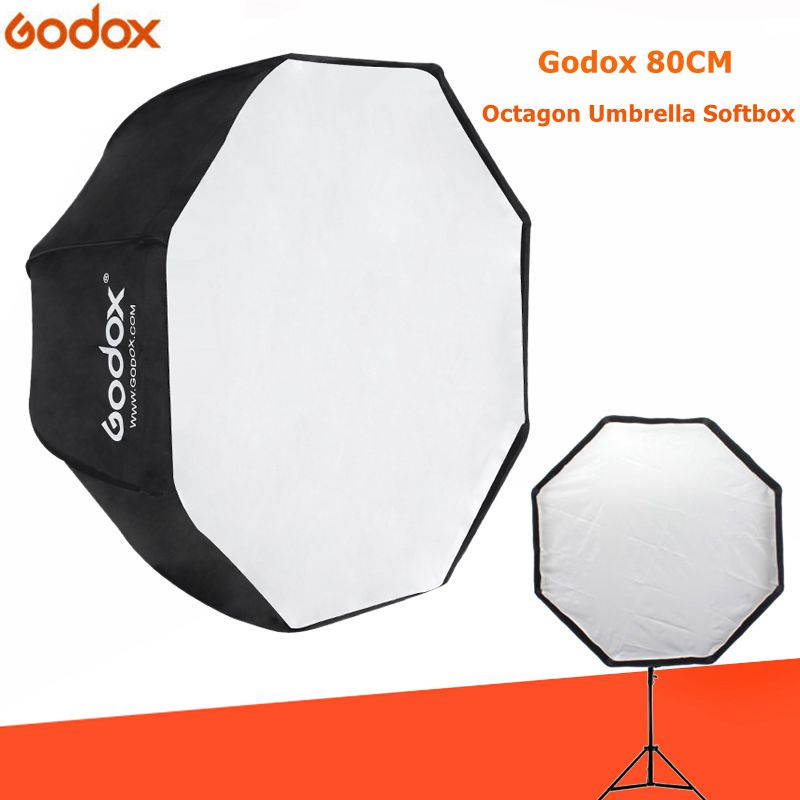 Godox Softbox 80cm / 31.5in Diameter Octagon Brolly Umbrella Photography accessories light box Reflector for Studio цена