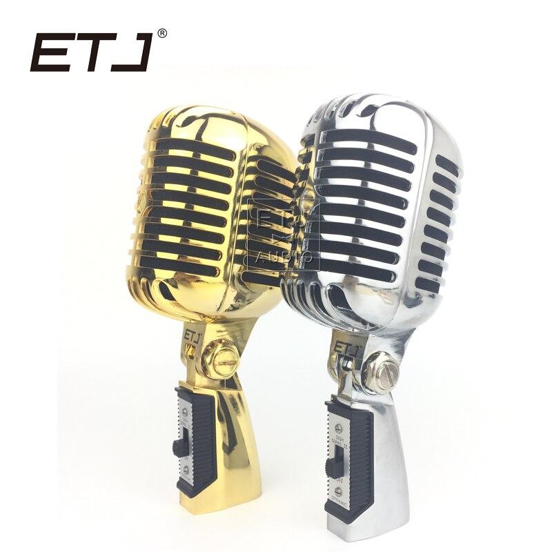 ETJ Brand Top Quality 55SH II Metal Karaoke Microphone Retro Microphone